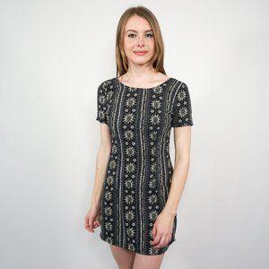 HOLLISTER Floral Print Short Sleeve Mini Dress